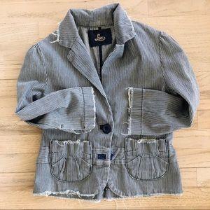 Lux Railroad Striped Jacket, L